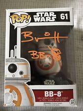 Brian Herring Autograph Star Wars Funko Pop! Bb-8 Figure w/ Coa