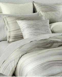 Hotel Collection Agate Euro pillowshams set of 2 Neutral Modern Msrp $135