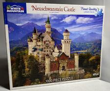 "White Mountain 'Neuschwanstein Castle' 1000 Piece Puzzle 24""x30"" Made In The USA"