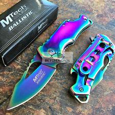 MTech USA Small Rainbow Blade Tatical Hunting Rescue Pocket Knife MT-A882SRB