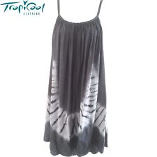 Ladies Tie Dye Summer Dress Plus Size | Grey