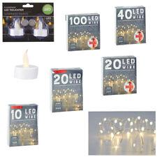 LED Draht Lichterkette Mini Micro Dekolicht Teelicht Warm weiß