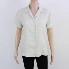 GAP Womens Size M L Pale Khaki Linen Short Sleeve Shirt