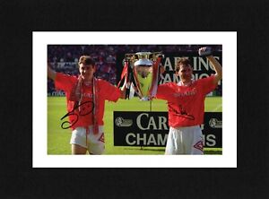 8X6 Mount BRUCE & ROBSON Signed PHOTO Gift Ready To Frame MANCHESTER UNITED