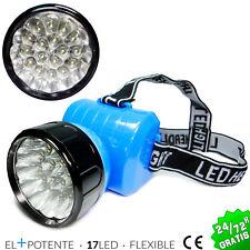 LINTERNA FRONTAL DE CABEZA IMPERMEABLE 17 LED CAMPING CAZA HEADLAMP WATERPROOF