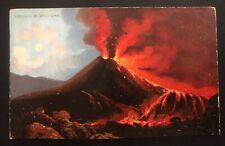 1910 Teddington England Picture Postcard Cover To Australia Vesuvius Volcano