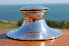 ROYAL MAIL LINE 1907 1ST CLASS ELKINGTON SILVER PLATE CAPSTAN SHAPED INKWELL