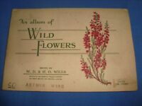 Old Vintage Wills Cigarette Color Picture cards Album from England 1950