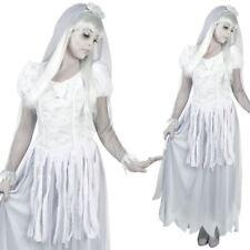 Señoras Ghostly Novia Disfraz Halloween Vestido de Disfraz Traje para mujer fantasma
