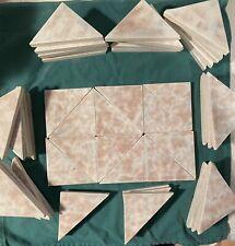 50 Trent Triangle Antique Fireplace Art Tiles Ceramic 1890 Victorian Deco