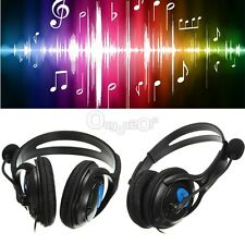Wired Gaming Headphones Headset W/ Mic For PS 4 PC Laptop PSP MP3/MP4/MP5 Phone