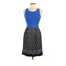 NEW $178 Anthropologie Girls From Savoy Merino Wool Blend Dress Blue Black Small