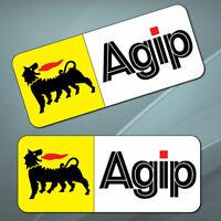 2 PVC Vinyle Autocollants Eni Agip Pétrole Sponsor Stickers Voiture Auto Moto GP