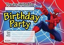Boys SpiderMan Cards Stationery for Invitations eBay