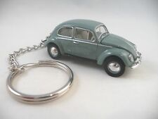 1953 Volkswagen VW Beetle Bug Deluxe European Model Gray Grey Key Chain