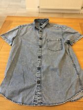 Mint condition men's Primark Short Sleeve Shirt. Size M Denim