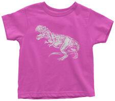 White Tyrannosaurus Rex Toddler T-Shirt T-Rex Dinosaur