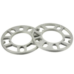 5MM ALLOY WHEEL SPACERS SHIMS - NEW Universal 4 OR 5 STUD PAIR 2 Pieces