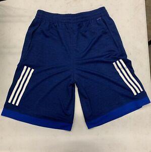 Adidas Boys Youth Training Shorts XL Blue White AH5457