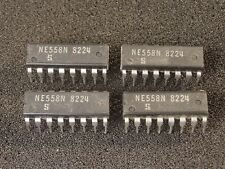 "Lot of 4 Pieces: NEW ""Signetics"" NE558N IC Quad Timer DIP 16-Pin DIP US Seller!"