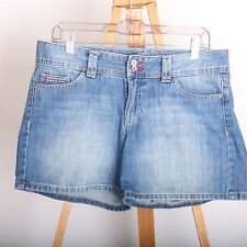 Tommy Hilfiger Blue Jean Denim Casual Shorts Women's Size 8 Double Button