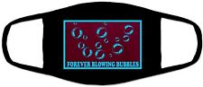 West Ham Song Forever Blowing Bubbles Black Face Covering Mask