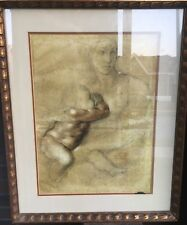 Mid-Cent. Michelangelo New York Graphic Society Madonna and Child Screen Print