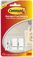 3M Command Decorative Quartz Spring Clips Damage Free Hanging