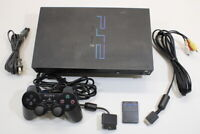 Sony PS2 SCPH-39000 Black Console SCRATCED Cont AC AV Bundle Japan Import 2PC071