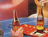 1943 NEHI CORP 12 X 16  RC Cola cardboard ROYAL CROWN WWII era AD bar setting
