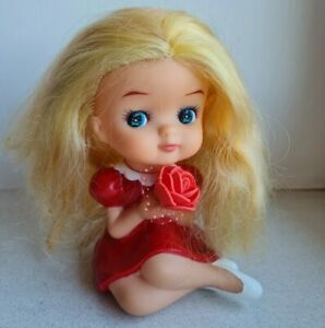 Vintage rubber doll Japan 16sm 6 inch length extra RARE
