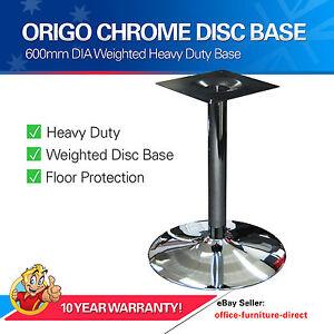 Table Base Pedestal Office Tables Chrome Disc Column Heavy Duty Metal Bases