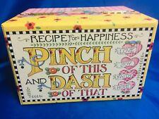 Mary Engelbreit Vintage 1990s Recipe Box W/ Recipe Cards New