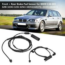 Front & Rear Brake Pad Sensor KIT For BMW 3 series E46 34351164371+34351164372