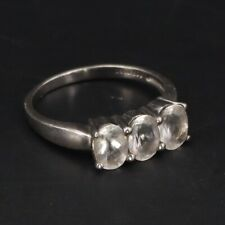 Zirconia Cluster Ring Size 9 - 3g Sterling Silver The Genuine Gemstone Co. Cubic