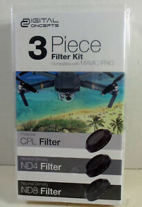 Vivitar Digital Concepts 3 PCS Camera Filter Kit DC-FK3-MVC for Mavic Pro Drone