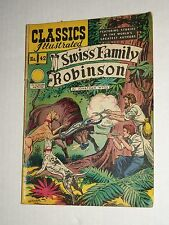 Classics Illustrated #42 Swiss Family Robinson Complete/Nice Vg+ Hrm 62 2A