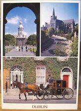 Irish Postcard DUBLIN Multiview Fair City Trinity Liam Blake Real Ireland RD13