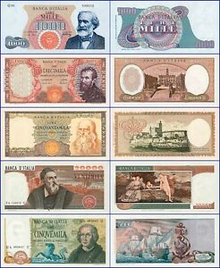 COPY !  ITALY-LOT OF 5 PIECES-UNC--COPY--REPRODUCTIONS--NOT REAL--COPY