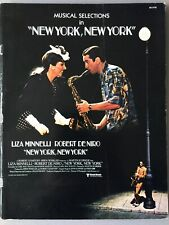 1977 NEW YORK, NEW YORK film sheet music 16 MUSICAL SELECTIONS w/ Liza Minnelli