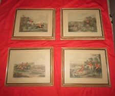 Antique Bachelors Hall Hunting scenes Prints plates #2-5 Total 4 made in England