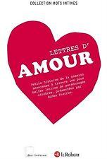 DES LETTRES D'AMOUR - Agnès Pierron - 128 pages - NEUF.