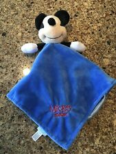 Disney Baby Mickey Mouse Lovey Security Blanket Blue Infant Toy Shower Gift