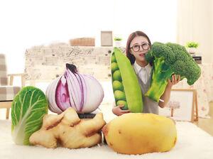 Funny gift vegetables potato onion broccoli watermelon plush cushion pillow toy
