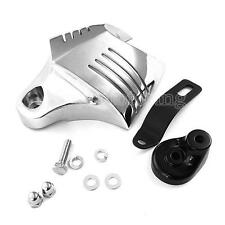 Chrome Twin Horn Cover Cowbell For Harley Tourning Chopper Bobber Motorcycles
