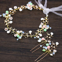 3.5cm Wide Twinkiling Full Crystal Lace Hair Head Band Accessories Bridal Prom