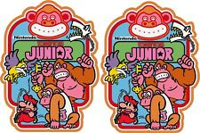 Donkey Kong Jr With Purple Bird Upright Arcade cabinet decal set