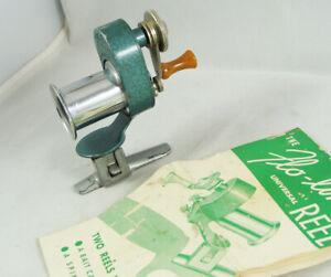 Unusual Old Vintage LOU MEYER CO. FLO-LINE Fishing Reel + Instruction Papers