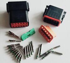12-Pin Deutsch Black Solid pin DT06-12S DT04-12P  waterproof connector