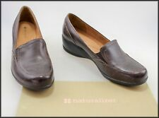 06b5eace524 NATURALIZER WOMEN S WEDGED HEEL BROWN LOAFER SHOES SIZE 9.5 AUST 41.5